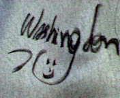 ワシントンのサイン!かわいいな。
